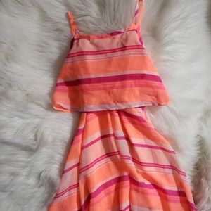 Children's palace neon flowy dress